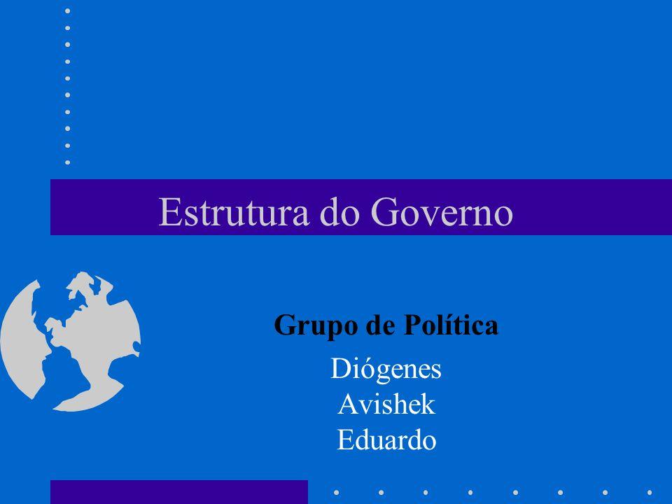Estrutura do Governo Grupo de Política Diógenes Avishek Eduardo