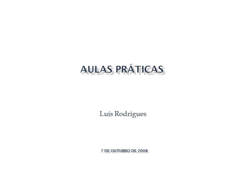 Luís Rodrigues 7 DE OUTUBRO DE 2008