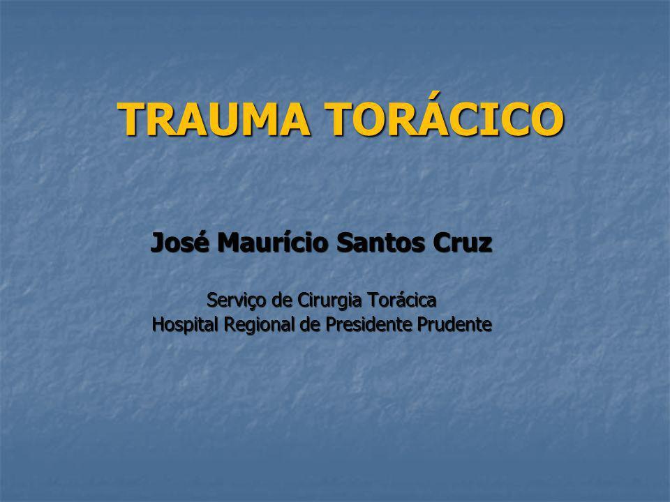 TRAUMA TORÁCICO José Maurício Santos Cruz Serviço de Cirurgia Torácica Hospital Regional de Presidente Prudente