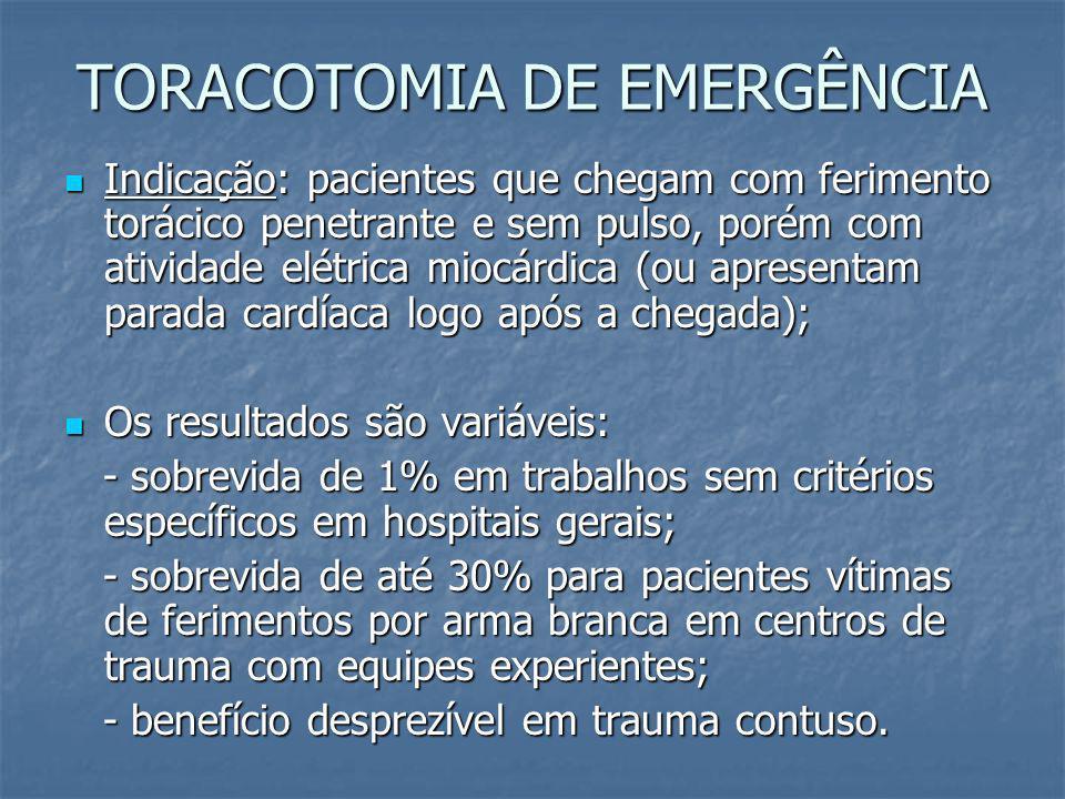DIAGNÓSTICO E TRATAMENTO PACIENTES ESTÁVEIS Ecocardiografia (muitos falso negativos e positivos); Ecocardiografia (muitos falso negativos e positivos)