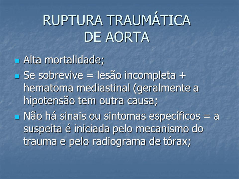 FERIMENTOS TRANSFIXANTES DE MEDIASTINO CONDUTA: CONDUTA: - Hemopneumotórax drenagem - Hemopneumotórax drenagem - Instabilidade hemodinâmica cirurgia d