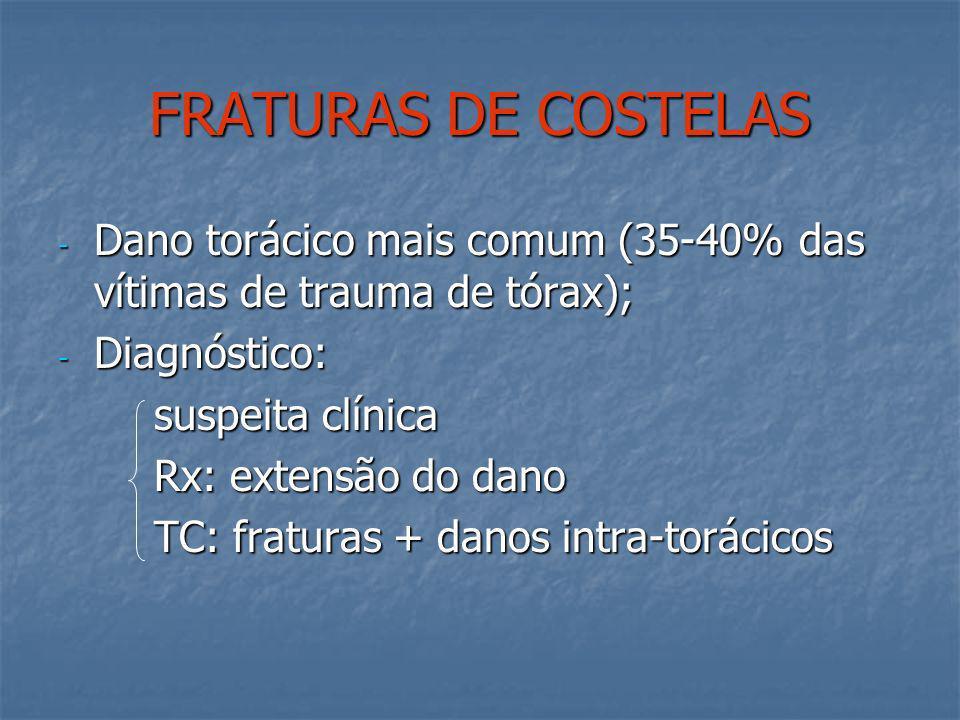 ASFIXIA TRAUMÁTICA - Trauma contuso severo (esmagamento) - Petéquias faciais e de tórax superior, hemoragia subconjuntival e edema de retina - Tratame