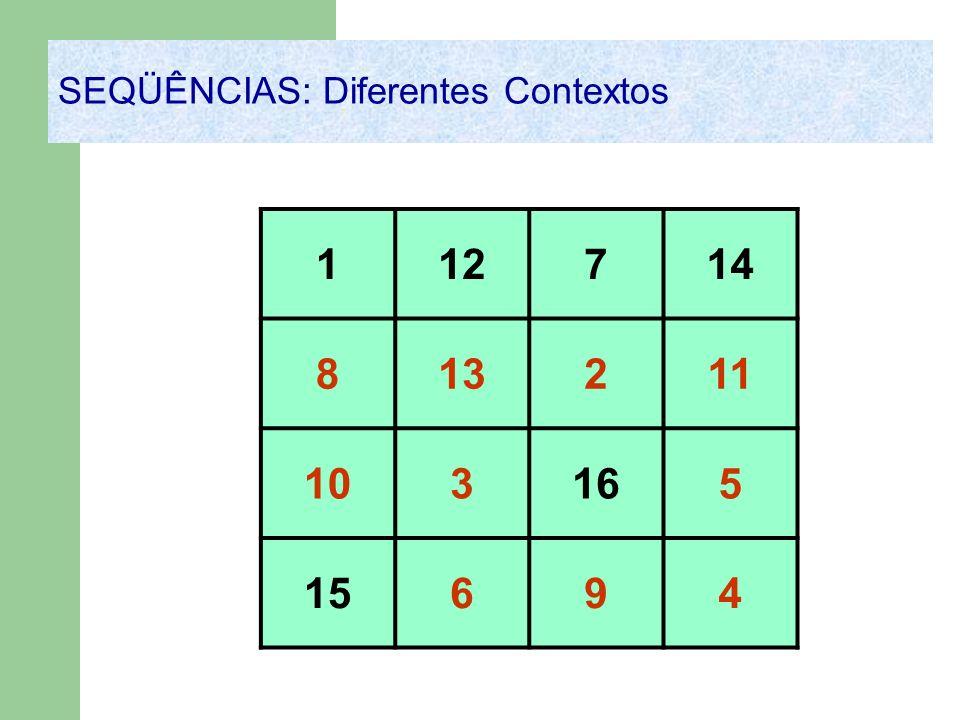 112714 813211 103165 15694 SEQÜÊNCIAS: Diferentes Contextos
