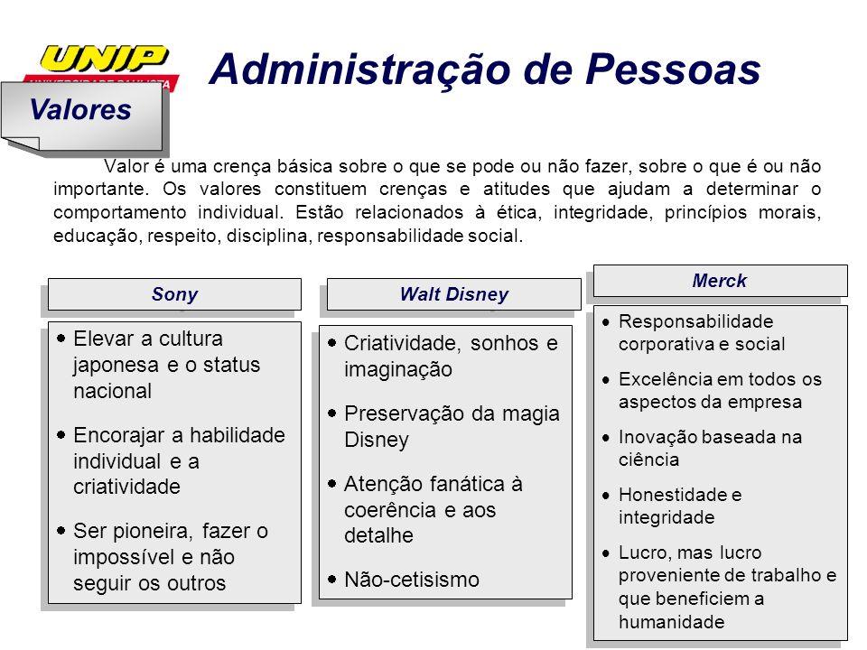 Administração de Pessoas 28 Conjunto de políticas e práticas de uma organização para orientar o comportamento humano e as relações interpessoais no ambiente de trabalho.