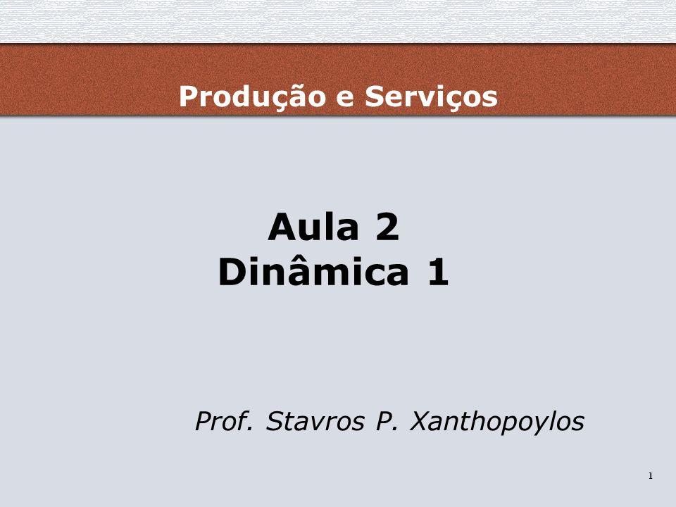 Prof. Stavros P. Xanthopoylos - Proibida a reprodução sem autorização 1 1 Aula 2 Dinâmica 1 Prof. Stavros P. Xanthopoylos Produção e Serviços