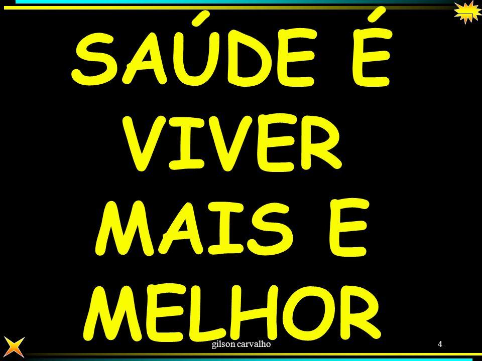 gilson carvalho3 SAÚDE SAÚDE TEM DETERMINAÇÃO ALÉM DAS AÇÕES E SERVIÇOS DE SAÚDE