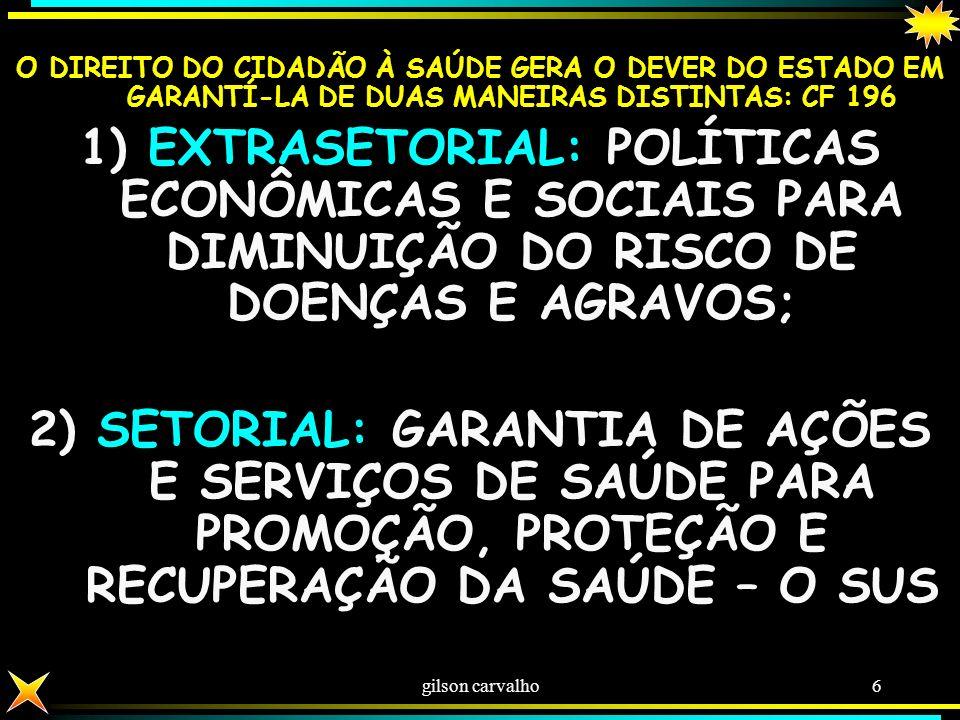 gilson carvalho5 POLÍTICA DE ESTADO: AQUELA INSCRITA NA CF POLÍTICA DE GOVERNO: É A PRATICADA PELOS GOVERNANTES PODE SER ALÉM DA POLÍTICA DE ESTADO, M