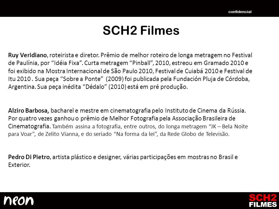 SCH2 Filmes Ruy Veridiano, roteirista e diretor. Prêmio de melhor roteiro de longa metragem no Festival de Paulínia, por Idéia Fixa. Curta metragem Pi
