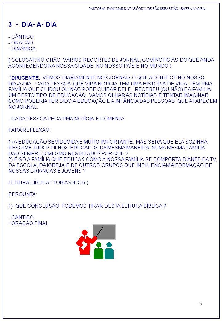 9 3 - DIA- A- DIA - CÂNTICO - ORAÇÃO - DINÂMICA ( COLOCAR NO CHÃO, VÁRIOS RECORTES DE JORNAL, COM NOTÍCIAS DO QUE ANDA ACONTECENDO NA NOSSA CIDADE, NO