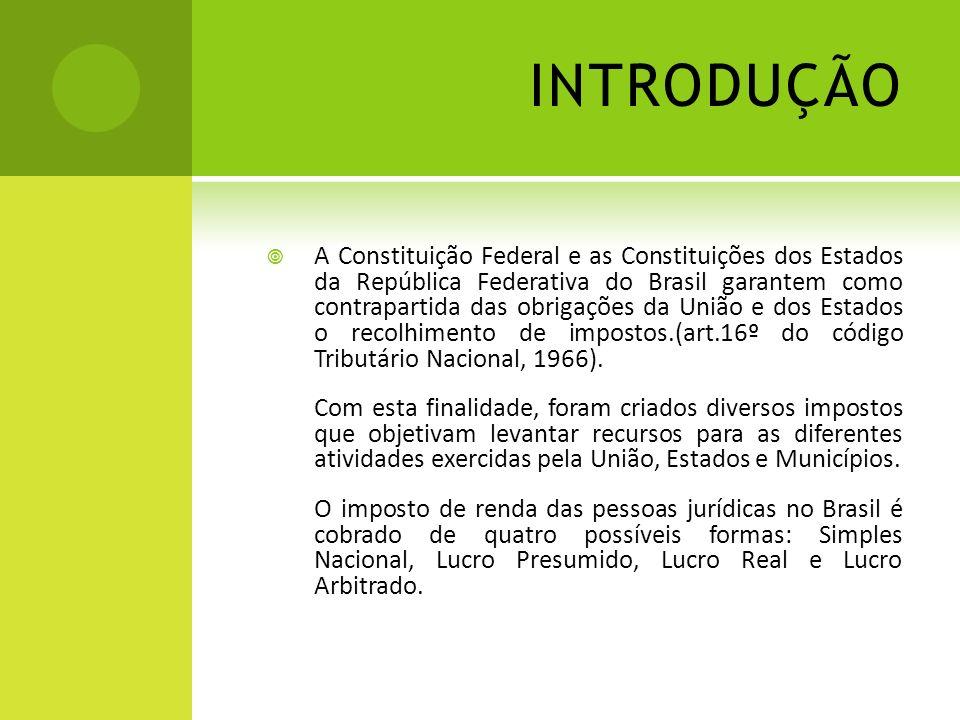 INTRODUÇÃO A Constituição Federal e as Constituições dos Estados da República Federativa do Brasil garantem como contrapartida das obrigações da União