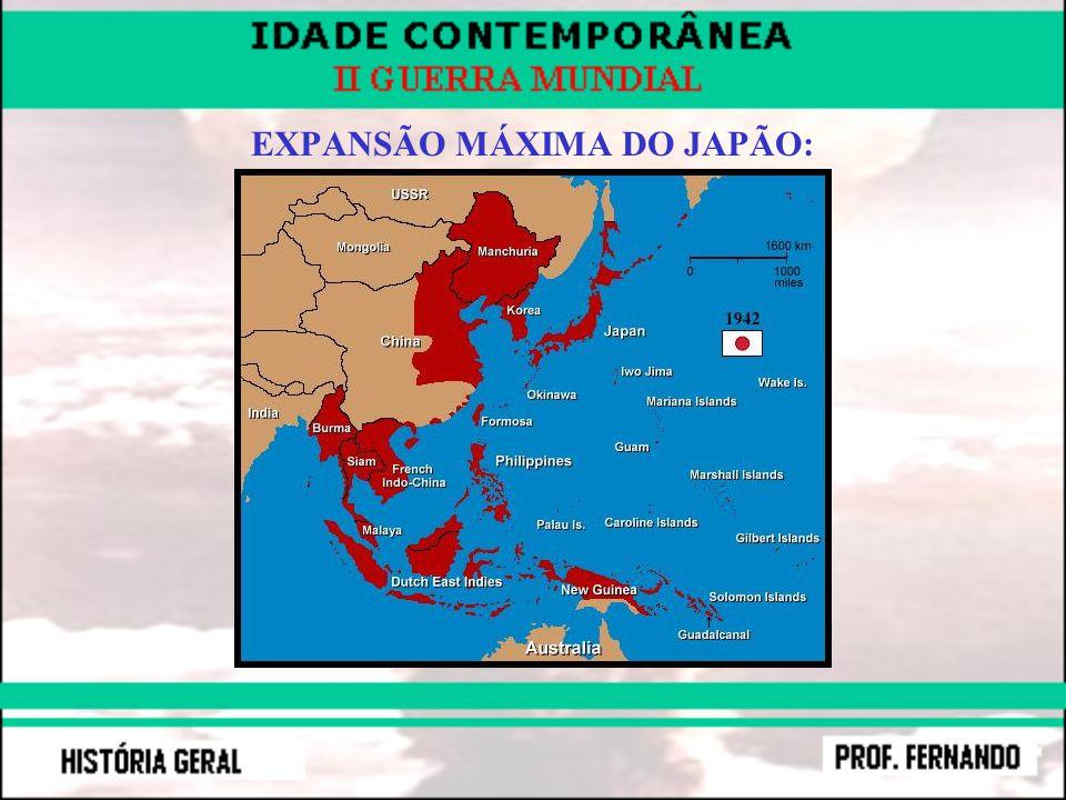 EXPANSÃO MÁXIMA DO JAPÃO: