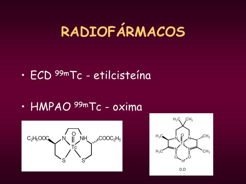 RADIOFÁRMACOS ECD 99m Tc - etilcisteína HMPAO 99m Tc - oxima