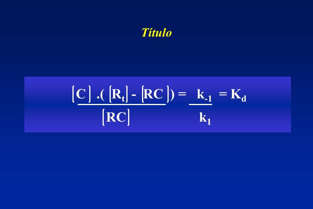 C.( R t - RC ) = k -1 = K d RC k 1 Título