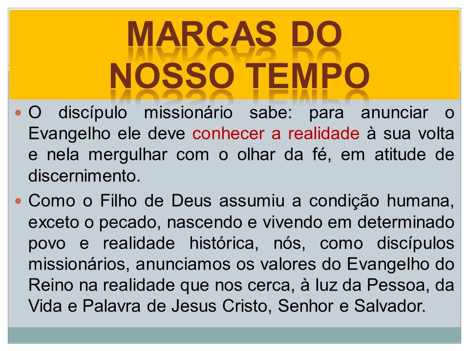 O discípulo missionário sabe: para anunciar o Evangelho ele deve conhecer a realidade à sua volta e nela mergulhar com o olhar da fé, em atitude de di