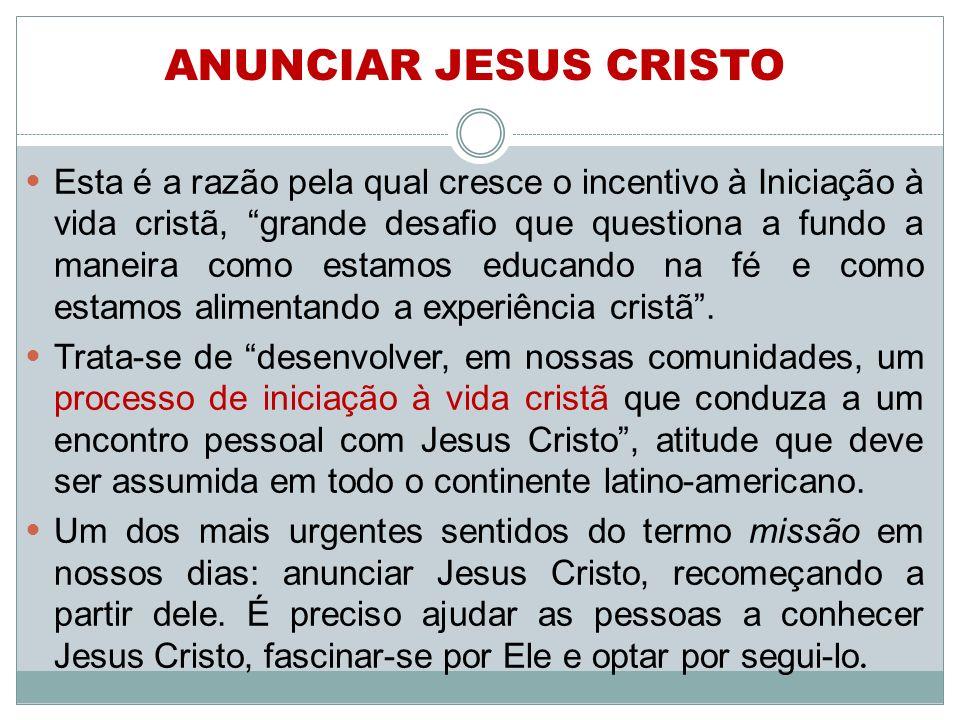 Esta é a razão pela qual cresce o incentivo à Iniciação à vida cristã, grande desafio que questiona a fundo a maneira como estamos educando na fé e co