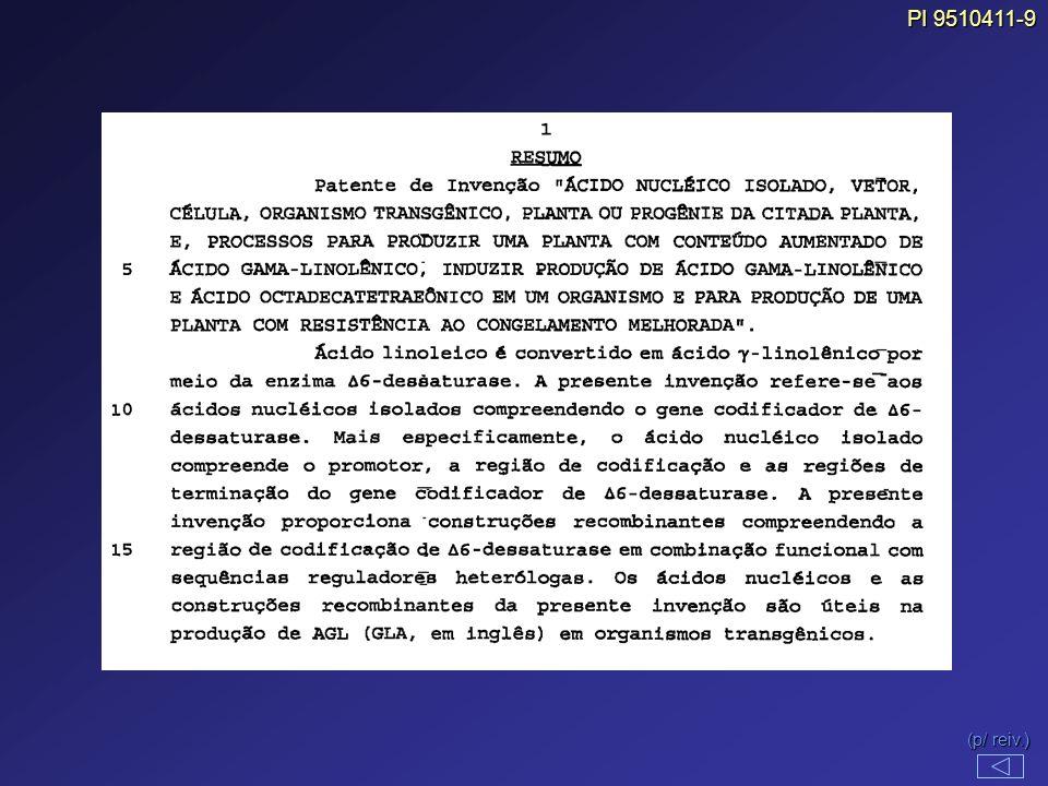(p/ reiv.) (p/ reiv.) PI 9510411-9