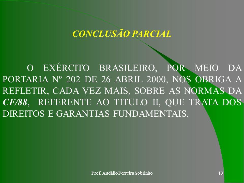 Prof. Audálio Ferreira Sobrinho12
