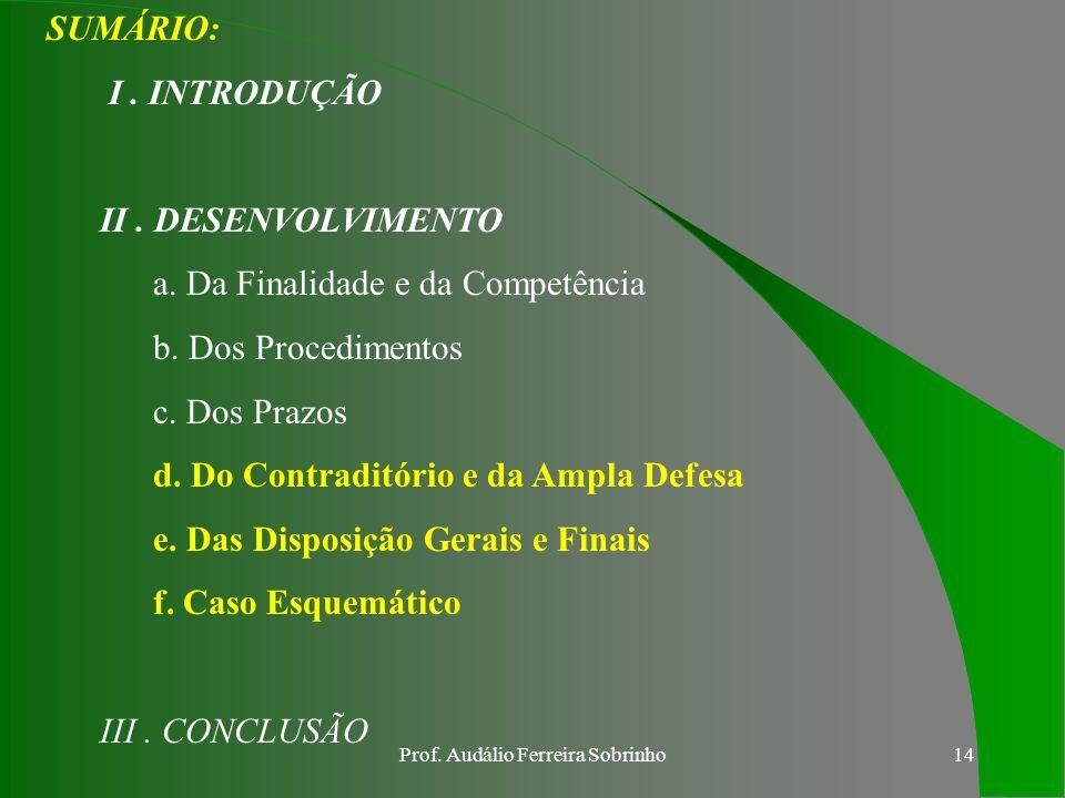 Prof. Audálio Ferreira Sobrinho13 CONCLUSÃO PARCIAL O EXÉRCITO BRASILEIRO, POR MEIO DA PORTARIA Nº 202 DE 26 ABRIL 2000, NOS OBRIGA A REFLETIR, CADA V