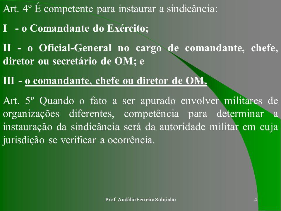 Prof. Audálio Ferreira Sobrinho3 a. DA FINALIDADE E DA COMPETÊNCIA Art. 1º As presentes Instruções Gerais têm por finalidade normatizar, padronizar e