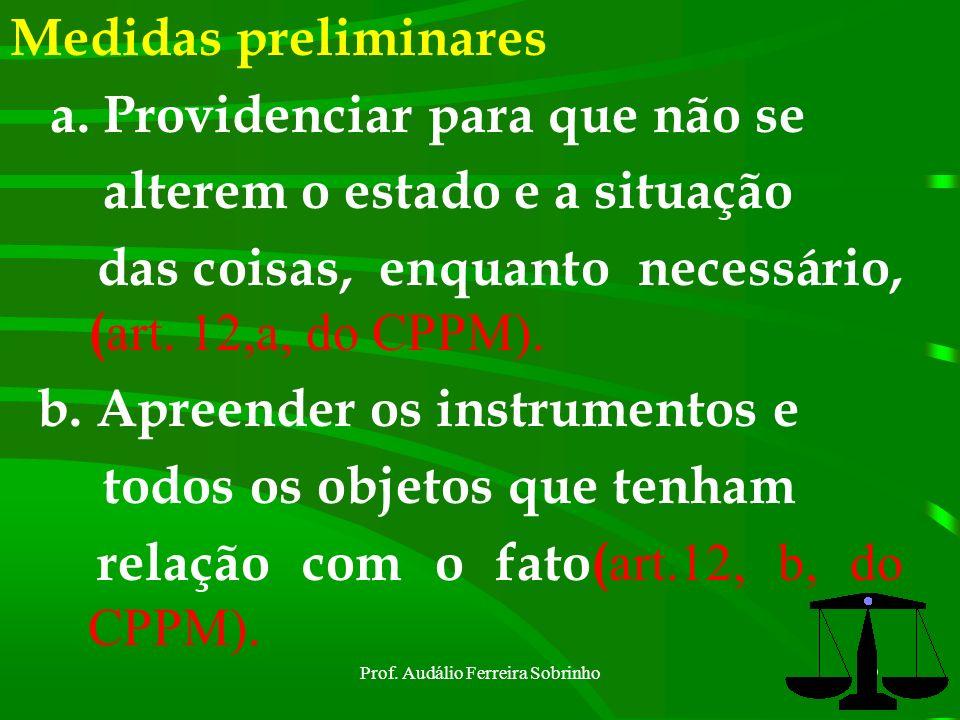Prof. Audálio Ferreira Sobrinho18 Inquirição (art. 19 do CPPM) Durante o dia= 7(sete) às 18(dezoito) horas §1º= assentada de início, interrupção e enc