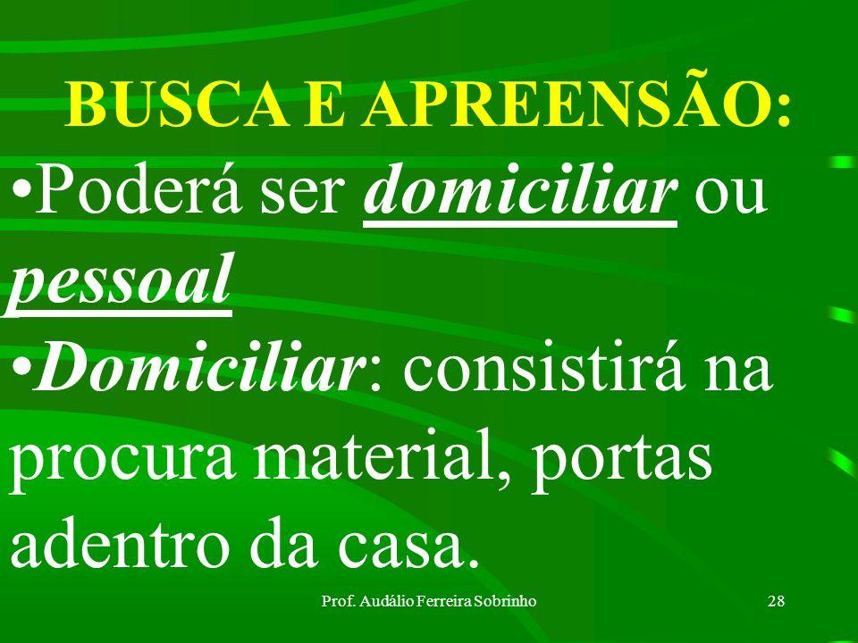 Prof. Audálio Ferreira Sobrinho27 AVALIAÇÃO E IDENTIFICAÇÃO DA COISA: Proceder-se-á sempre à avaliação da coisa subtraída, desviada, destruída, danifi
