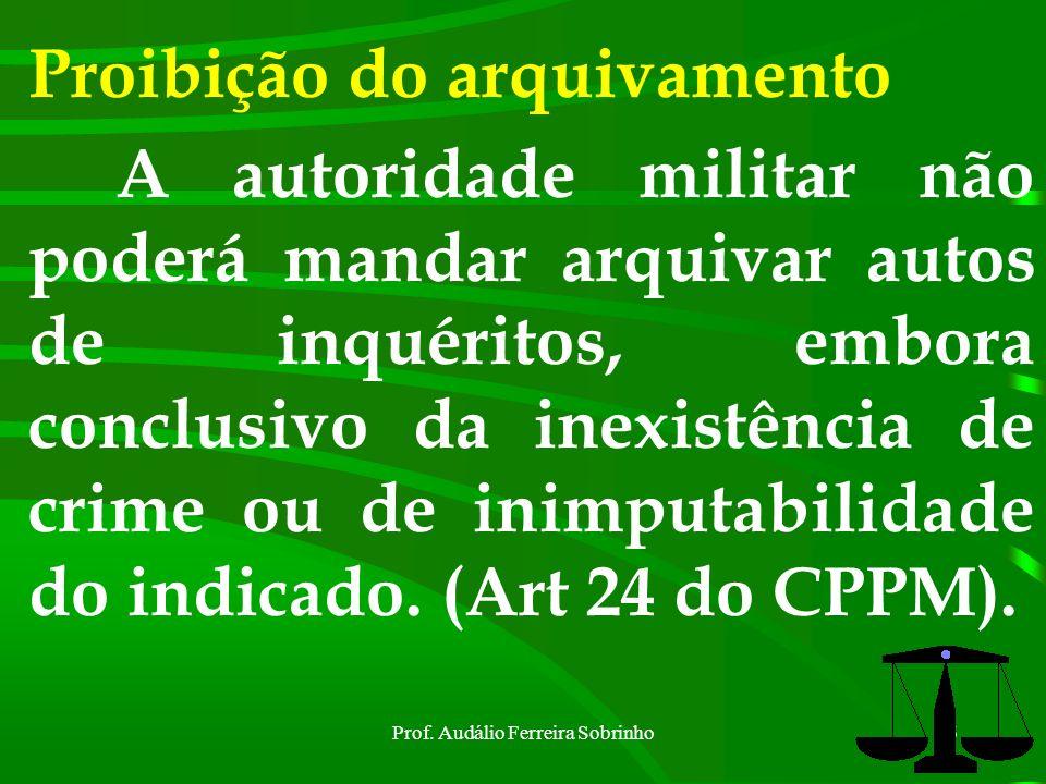 Prof. Audálio Ferreira Sobrinho55 IPM Reunião e ordem das peças do inquérito : art. 21do CPPM Relatório : art. 22 do CPPM Remessa do IPM : art. 23 do
