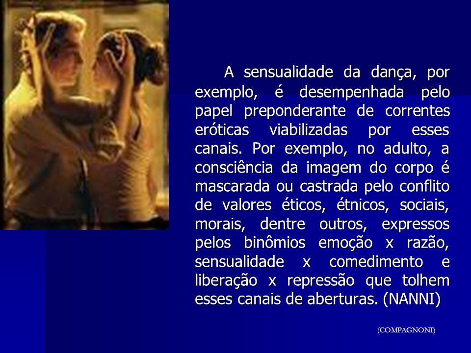 A sensualidade da dança, por exemplo, é desempenhada pelo papel preponderante de correntes eróticas viabilizadas por esses canais. Por exemplo, no adu