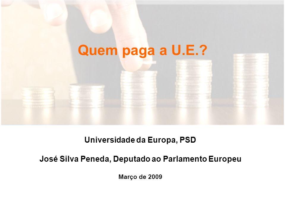 Quem paga a U.E..