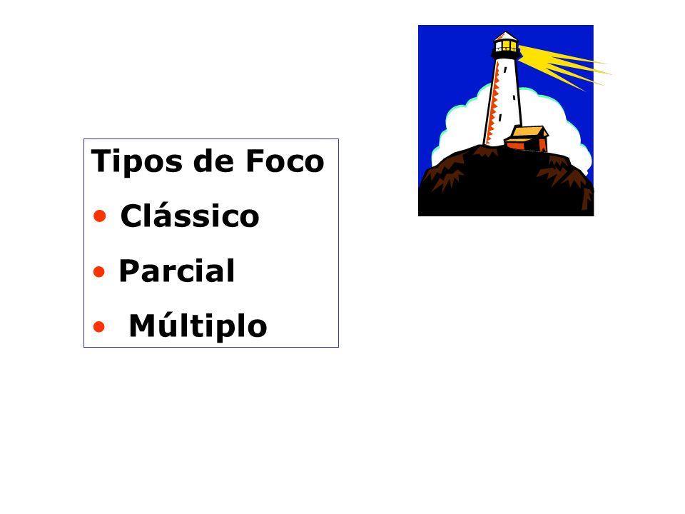 FOCO Estrutura integrada pelos diversos fatores que se constituem na gênese do que foi escolhido como tema central do tratamento. Uma hipótese ou conj