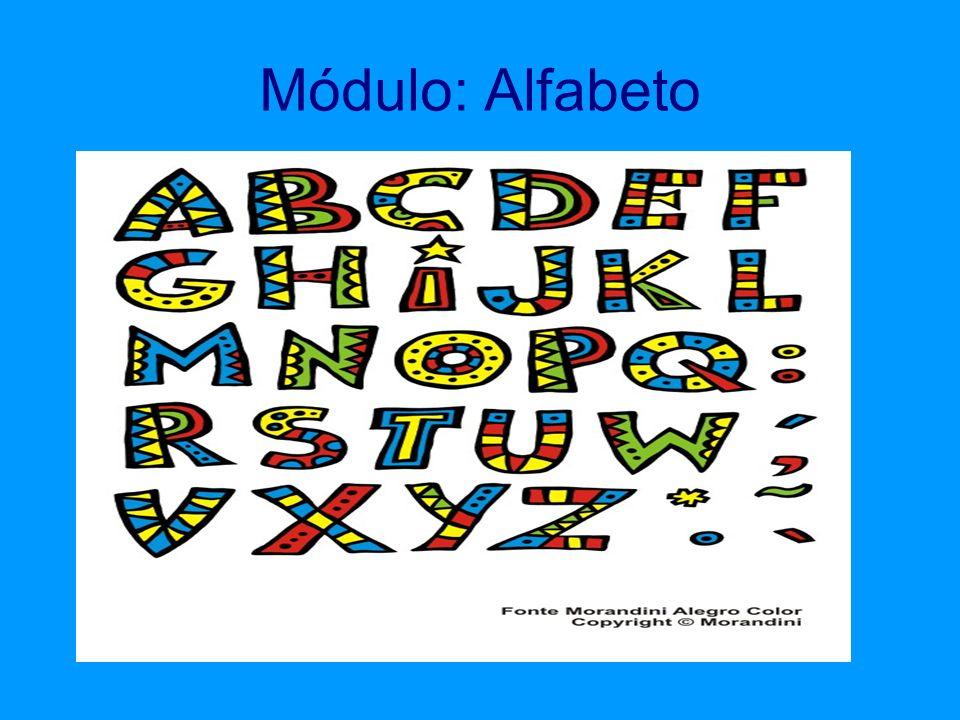 CONCEITOS: Reconhecer o alfabeto Relacionar o letra com a imagem