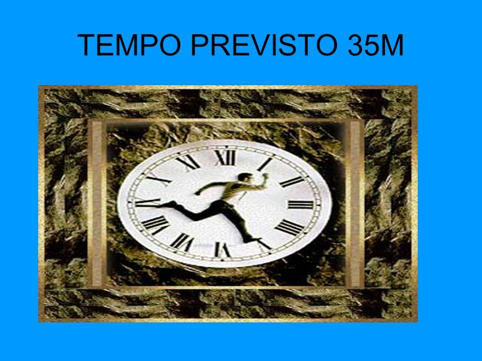 TEMPO PREVISTO 35M