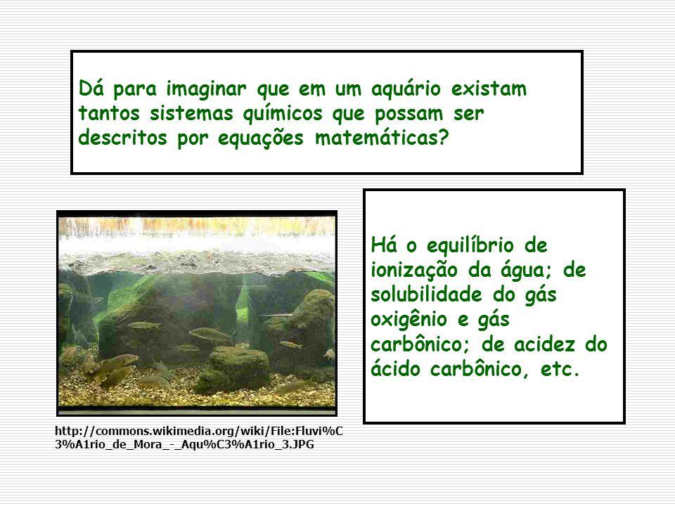 Dá para imaginar que em um aquário existam tantos sistemas químicos que possam ser descritos por equações matemáticas? Há o equilíbrio de ionização da