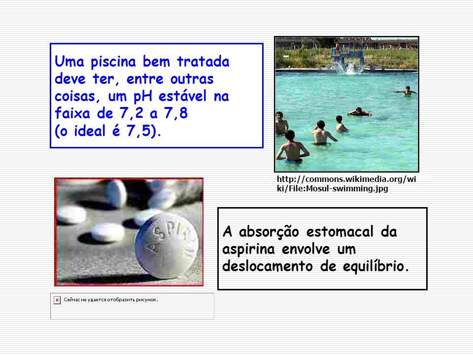 Uma piscina bem tratada deve ter, entre outras coisas, um pH estável na faixa de 7,2 a 7,8 (o ideal é 7,5). A absorção estomacal da aspirina envolve u