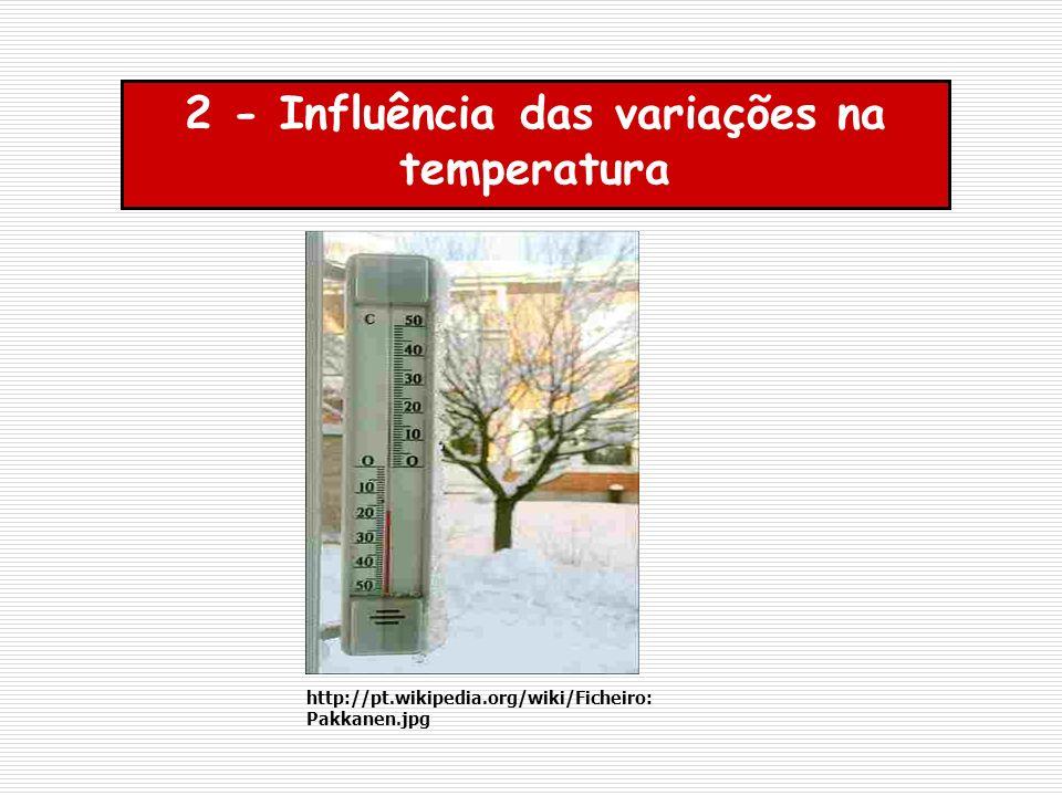 2 - Influência das variações na temperatura http://pt.wikipedia.org/wiki/Ficheiro: Pakkanen.jpg