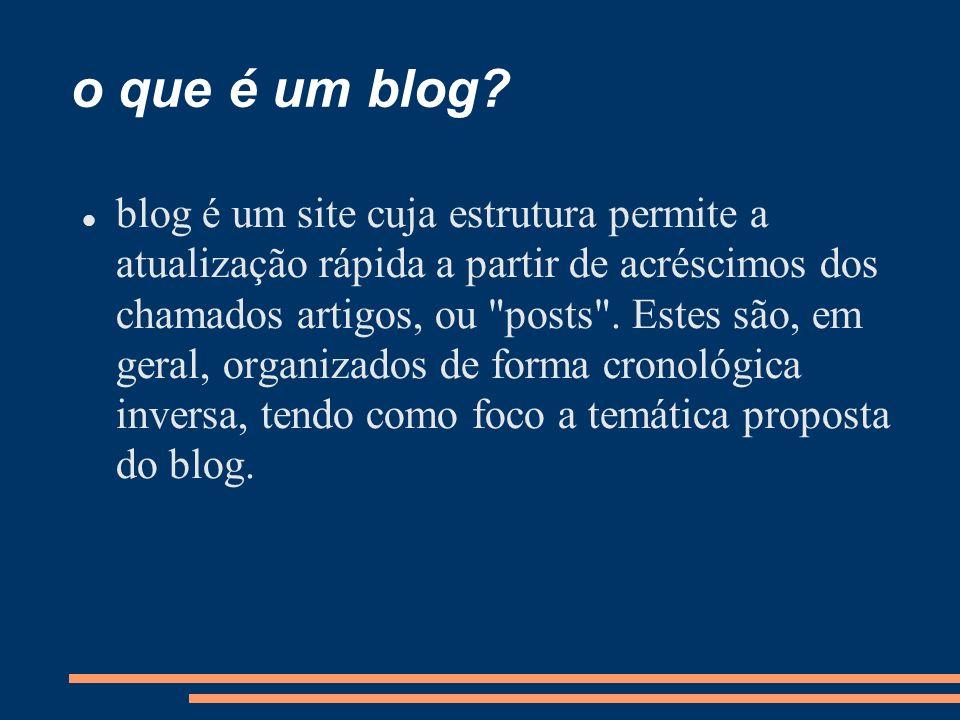 o que é um blog.