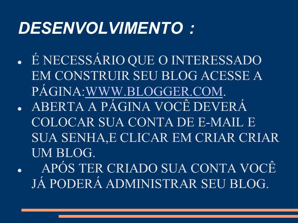 o que é um blog? blog é um site cuja estrutura permite a atualização rápida a partir de acréscimos dos chamados artigos, ou