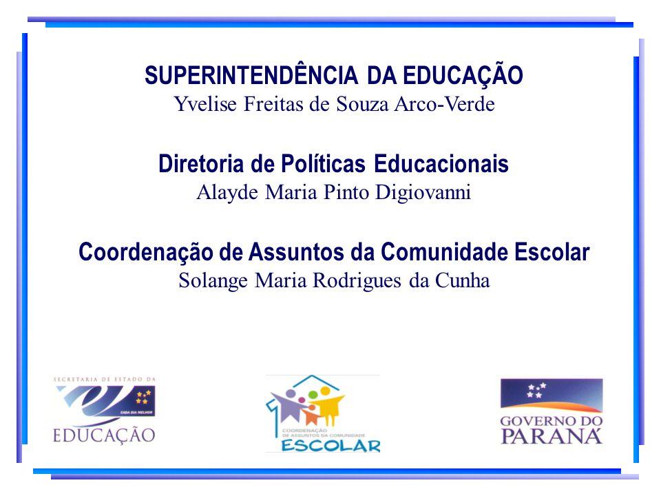 SUPERINTENDÊNCIA DA EDUCAÇÃO Yvelise Freitas de Souza Arco-Verde Diretoria de Políticas Educacionais Alayde Maria Pinto Digiovanni Coordenação de Assu
