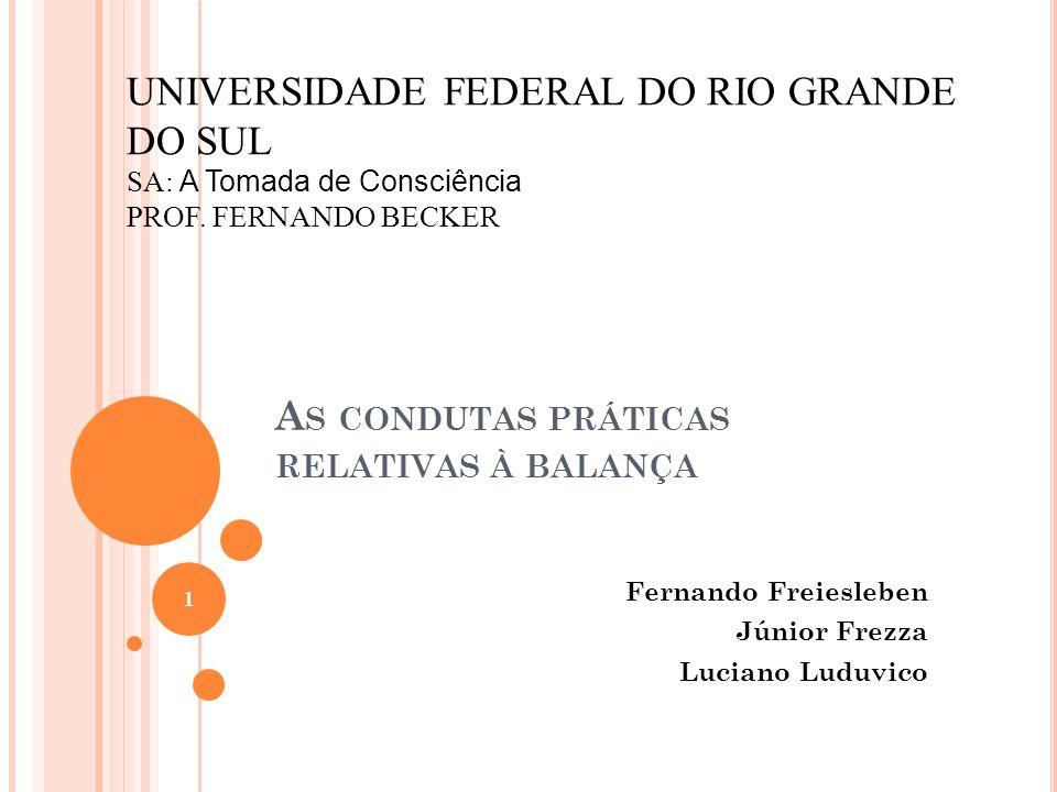 A S CONDUTAS PRÁTICAS RELATIVAS À BALANÇA Fernando Freiesleben Júnior Frezza Luciano Luduvico UNIVERSIDADE FEDERAL DO RIO GRANDE DO SUL SA: A Tomada d