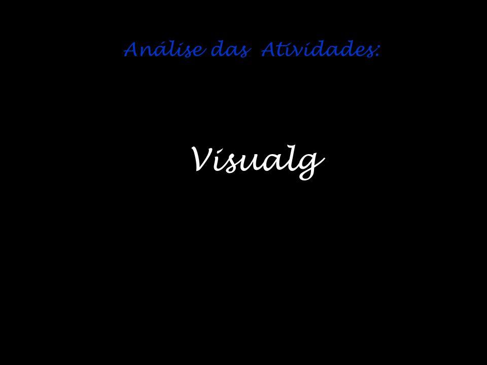 Análise das Atividades: Visualg