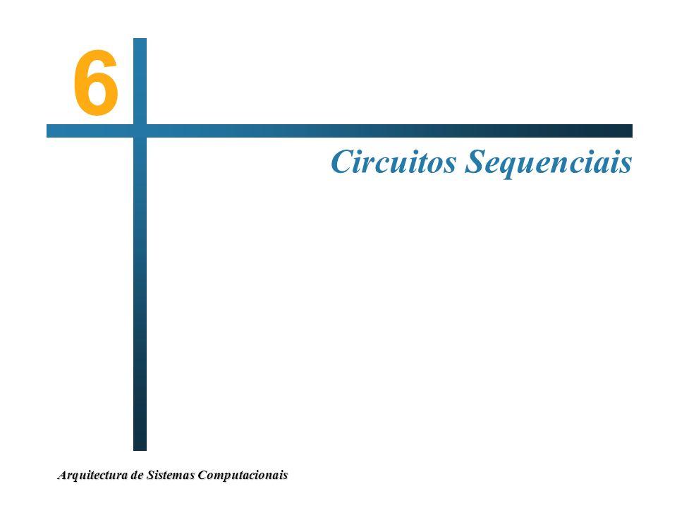 Arquitectura de Sistemas Computacionais Circuitos Sequenciais 6