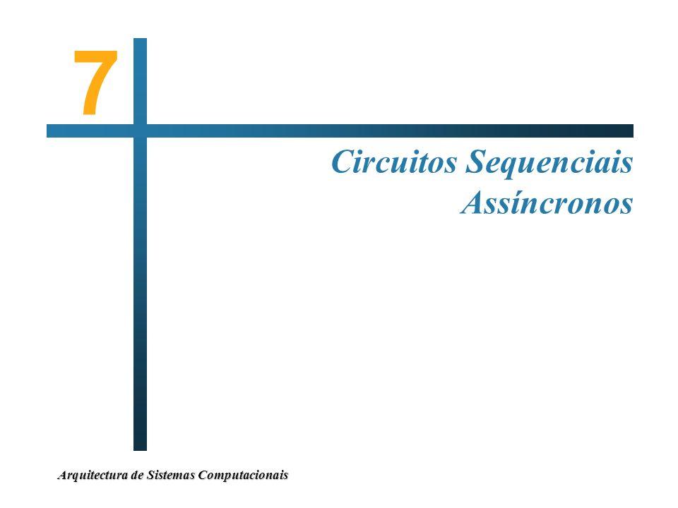Arquitectura de Sistemas Computacionais 7 Circuitos Sequenciais Assíncronos