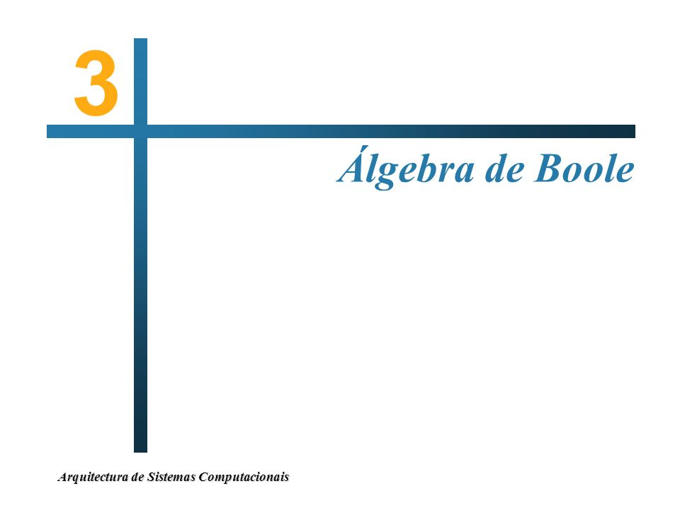 Arquitectura de Sistemas Computacionais Álgebra de Boole 3