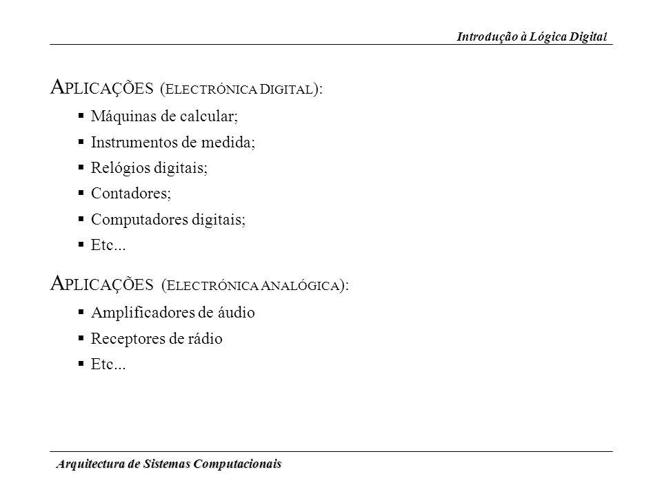 Arquitectura de Sistemas Computacionais D ESCODIFICADORES (3) Descodificadores Binários: (cont.) Circuitos Combinacionais Símbolo Lógico (lógica negativa) Descodificador duplo de 2 para 4 CI 74x139 Diagrama Lógico (lógica positiva)