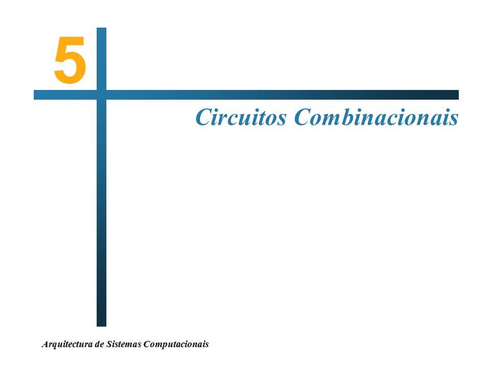 Arquitectura de Sistemas Computacionais Circuitos Combinacionais 5