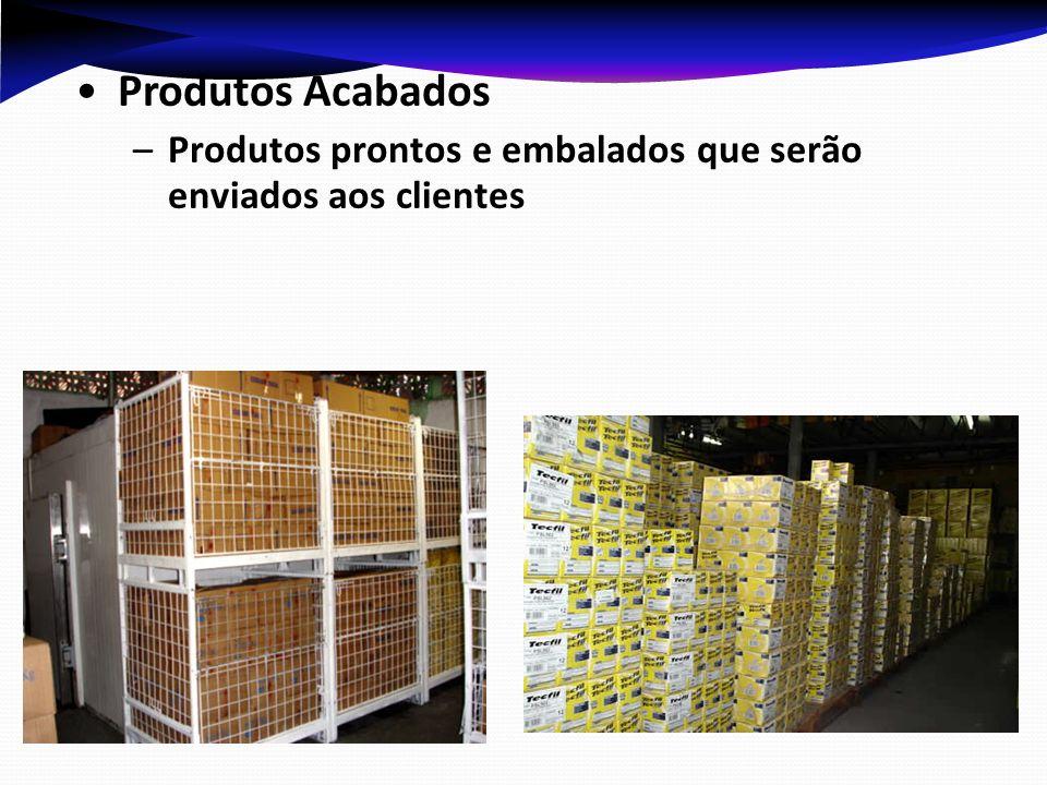 Produtos Acabados –Produtos prontos e embalados que serão enviados aos clientes
