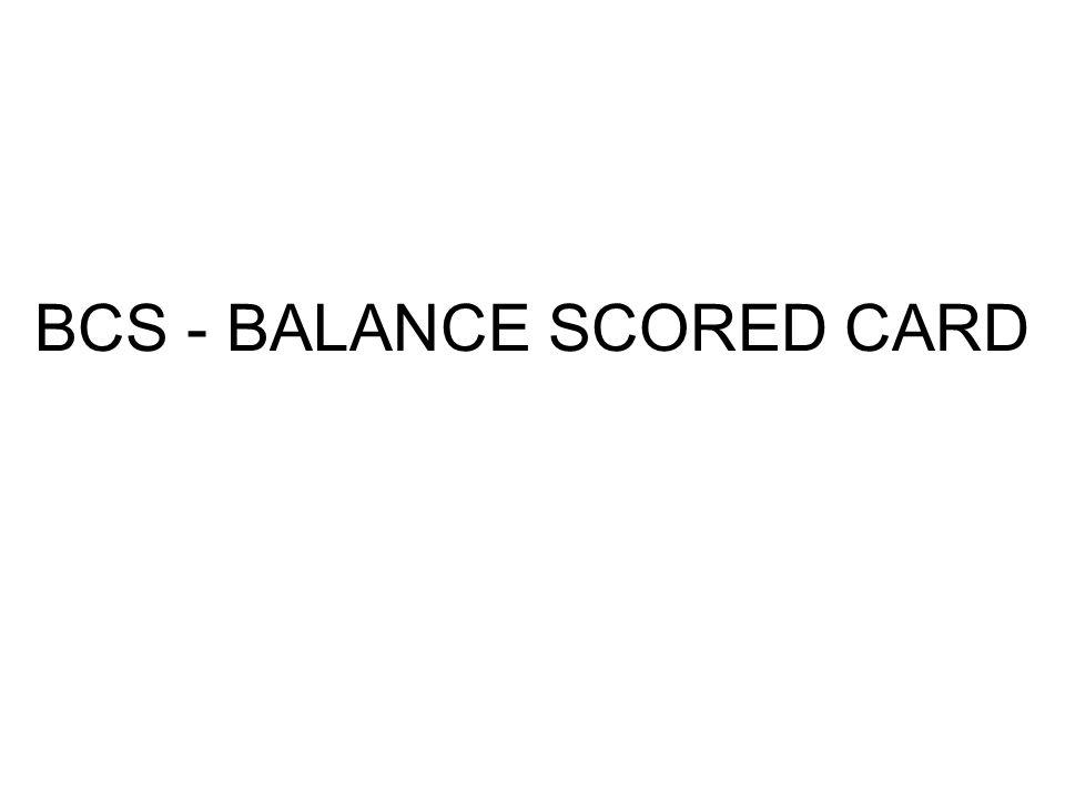 BCS - BALANCE SCORED CARD