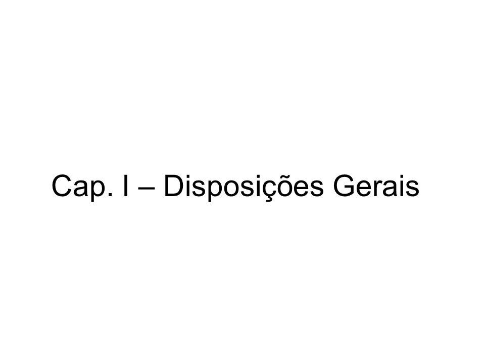 Cap. II – Da Licitação