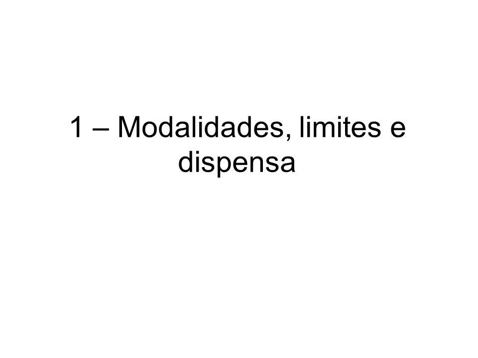5 modalidades de licitação