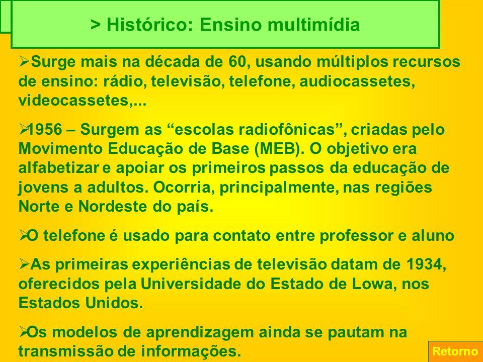 > Histórico: Ensino telemático