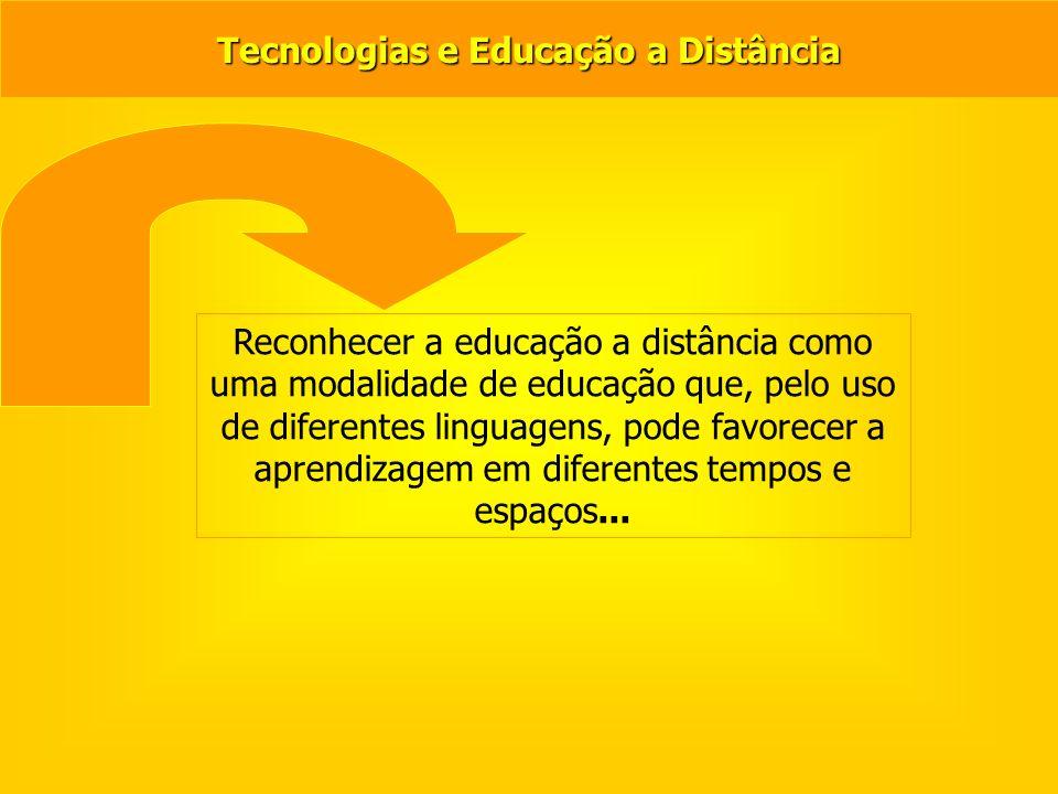 Linguagens TICs… Qual o lugar das tecnologias na EaD.